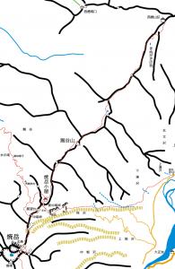 西穂山荘〜焼岳周辺概念図20120729版