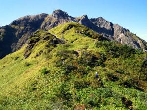 焼岳展望台と焼岳山頂