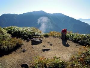 焼岳展望台の噴気孔