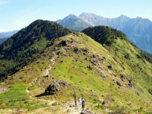 焼岳展望台と穂高連峰