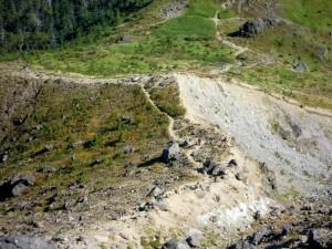 焼岳の斜面(中尾峠側、北側斜面)