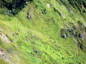 上高地コース、最後の登り