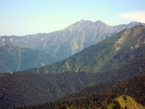 焼岳頂上から見た槍ヶ岳