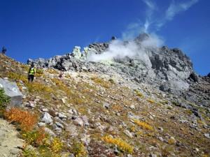 中ノ湯コースの焼岳頂上付近