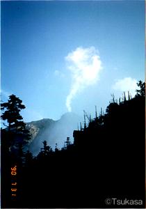 風のない乾いた初秋の焼岳